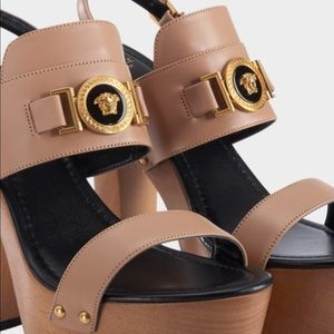 33bc7710b00 Versace Shoes - NWT ICON VERSACE PLATFORM LEATHER SANDALS w box